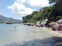 Het strand van Camboriubrazilië stock foto