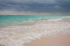 Onweer die op Punta Cana komen royalty-vrije stock foto