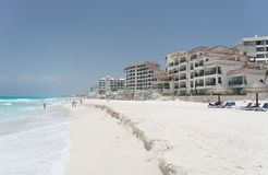 Het Strand van Cancun Royalty-vrije Stock Foto