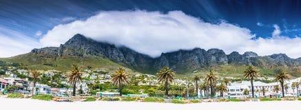 Het strand van Cape Town stock afbeeldingen