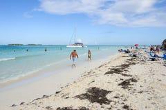 Het strand van Cayoguillermo, Cuba Stock Foto
