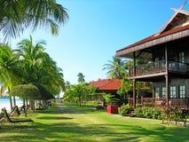 Het strand van Cenang, Langkawi, Maleisië Royalty-vrije Stock Afbeeldingen
