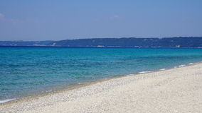 Het strand van Chalkidiki Stock Foto
