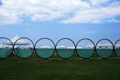Het strand van Chalkidiki Sani Royalty-vrije Stock Fotografie