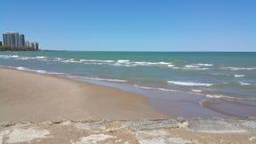 Het strand van Chicago royalty-vrije stock afbeelding