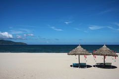 Het strand van China in Vietnam royalty-vrije stock foto's