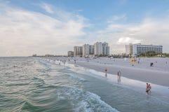 Het Strand van Clearwater, Florida Royalty-vrije Stock Afbeeldingen
