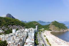 Het strand van Copacabana Stock Fotografie