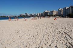 Het strand van Copacabana stock foto