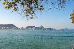 Het strand van Copacabana en suikerbrood Royalty-vrije Stock Afbeelding