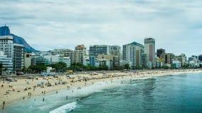 Het Strand van Copacabana in Rio de Janeiro Royalty-vrije Stock Afbeelding