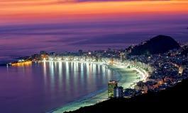 Het strand van Copacabana. Rio de Janeiro Stock Foto