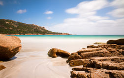 Het strand van Corsica Stock Foto's
