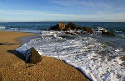Het strand van Costa Brava Stock Foto's