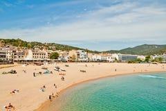 Het strand van Costa Brava Stock Afbeelding