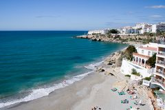 Het Strand van Costa del Sol Royalty-vrije Stock Foto