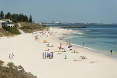 Het Strand van Cottesloe van het noorden, Perth, Westelijk Australië royalty-vrije stock foto