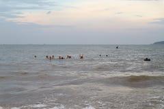 Het Strand van Cualo, Vietnam stock afbeelding