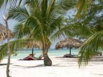 Het strand van Cuba Stock Afbeeldingen