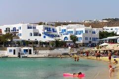 Het strand van Cycladen stock foto
