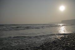 Het strand van Cyprus Episkopi Stock Foto's