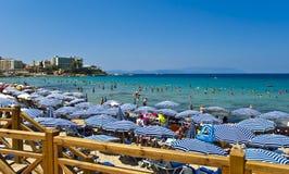 Het Strand van dames - Kusadasi stock fotografie