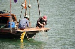 Het Strand van Danang, Vietnam stock foto's