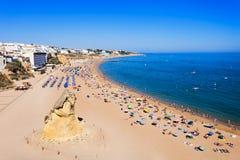 Het strand van de Albufeirastad royalty-vrije stock afbeelding