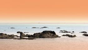 Het strand van de avond Stock Foto