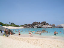 Het Strand van de Baai van de duivel Stock Foto