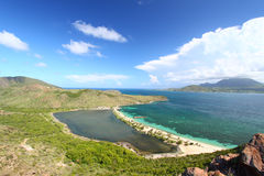 Het Strand van de Baai van majoors - Heilige Kitts royalty-vrije stock foto