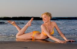 Het Strand van de bikini Royalty-vrije Stock Foto