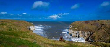 Het strand van de Bridlingtonkust en overzeese kust Royalty-vrije Stock Foto