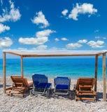 Het strand van de de zomerochtend Royalty-vrije Stock Foto