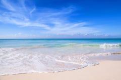 Het strand van de Dominicaanse republiek, Saona-eiland Stock Fotografie