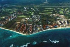 Het strand van de Dominicaanse Republiek van hierboven Royalty-vrije Stock Afbeelding