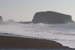Het Strand van de geitrots - de noordwestelijke Sonoma-Provincie, Californië, is de mond van de Russische Rivier royalty-vrije stock afbeelding