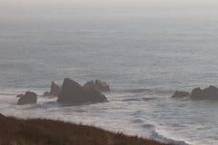 Het Strand van de geitrots - de noordwestelijke Sonoma-Provincie, Californië, is de mond van de Russische Rivier royalty-vrije stock foto