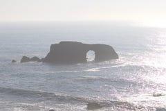Het Strand van de geitrots - de noordwestelijke Sonoma-Provincie, Californië, is de mond van de Russische Rivier stock foto
