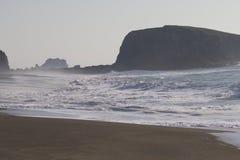 Het Strand van de geitrots - de noordwestelijke Sonoma-Provincie, Californië, is de mond van de Russische Rivier stock afbeelding