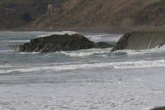 Het Strand van de geitrots - de noordwestelijke Sonoma-Provincie, Californië, is de mond van de Russische Rivier royalty-vrije stock afbeeldingen