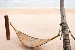Het strand van de hangmat Royalty-vrije Stock Afbeeldingen