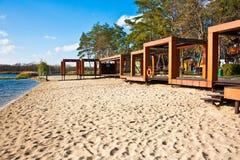 Het strand van de herfst Stock Foto's