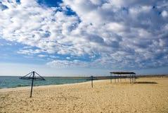 Het strand van de herfst Stock Foto