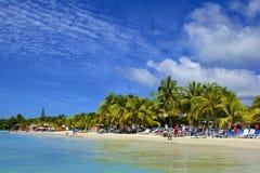 Het strand van de het westenbaai in Honduras stock afbeeldingen