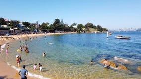 Het Strand van de kampinham, Sydney Harbour, Australië stock videobeelden