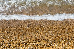 Het strand van de kiezelsteen Stock Foto