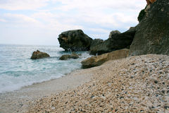 Het strand van de kiezelsteen royalty-vrije stock foto's