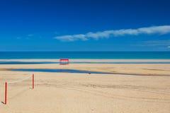 Het strand van de klapkleur Stock Fotografie