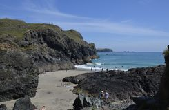 Het Strand van de Kynanceinham, Cornwall Stock Fotografie